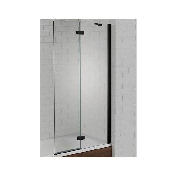 Venturi 6mm Black Hinged Square Edge Bath Screen 1500 x 900mm AQ6003R-BLK