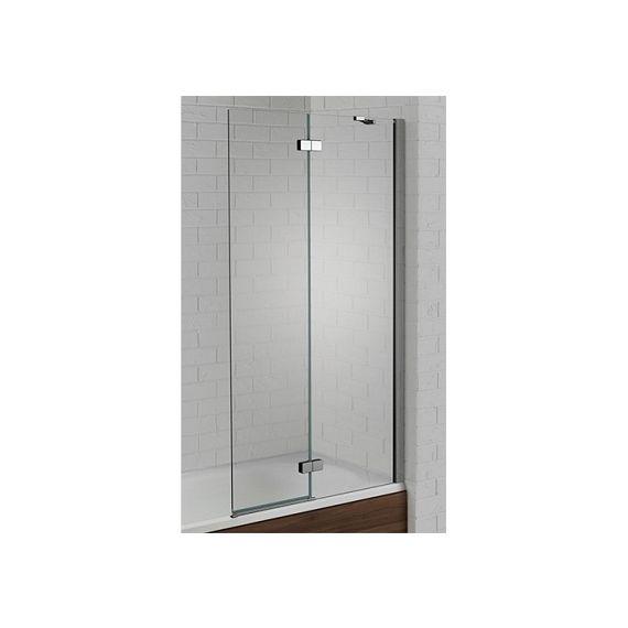 Venturi 6mm Right Hand Silver Hinged Bath Screen 1500 x 900 AQ6003R