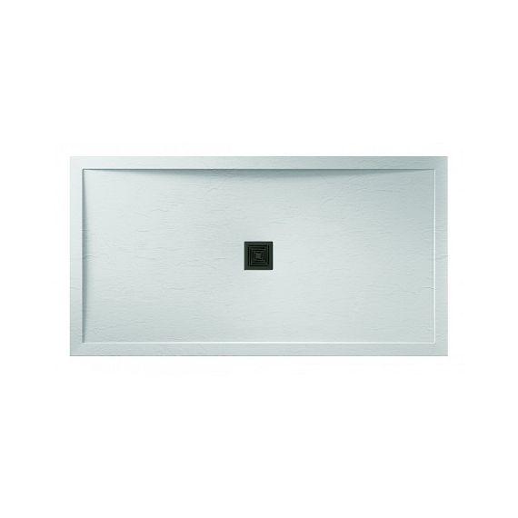 Aqualavo 1000 x 800 Rectangular White Shower Tray