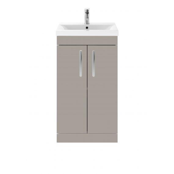 Nuie Athena Stone Grey 500mm Floor Standing Vanity With Basin 1