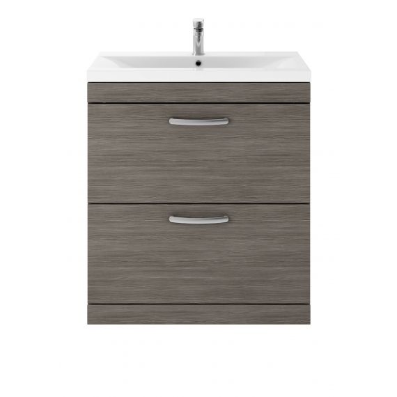 Nuie Athena Brown Grey Avola 800mm Floor Standing Vanity With Basin 1