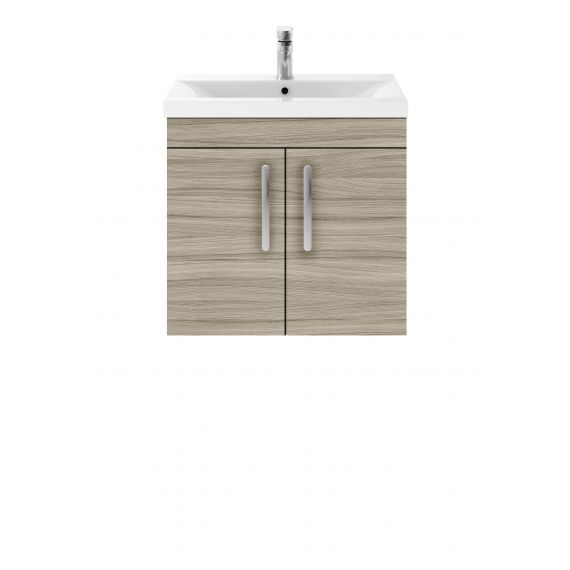 Nuie Athena Driftwood 600mm Wall Hung Cabinet & Basin 1