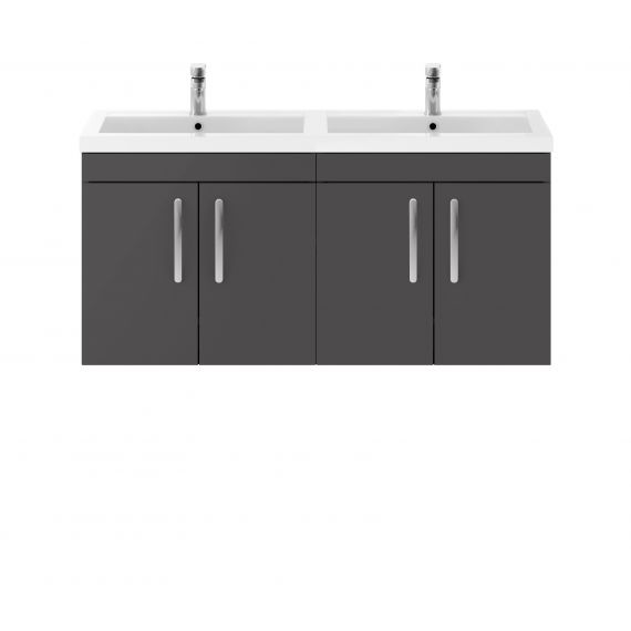 1200mm Wall Hung Cabinet & Double Basin
