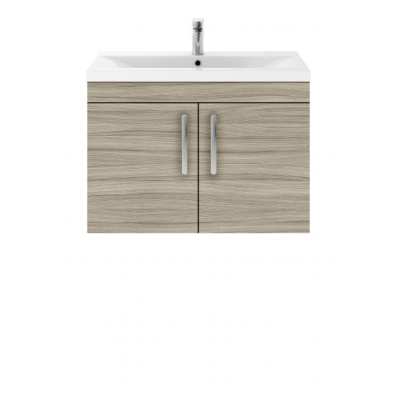 Nuie Athena Driftwood 800mm Wall Hung Cabinet & Basin 1