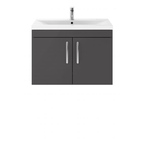 800mm Wall Hung Cabinet & Basin 1