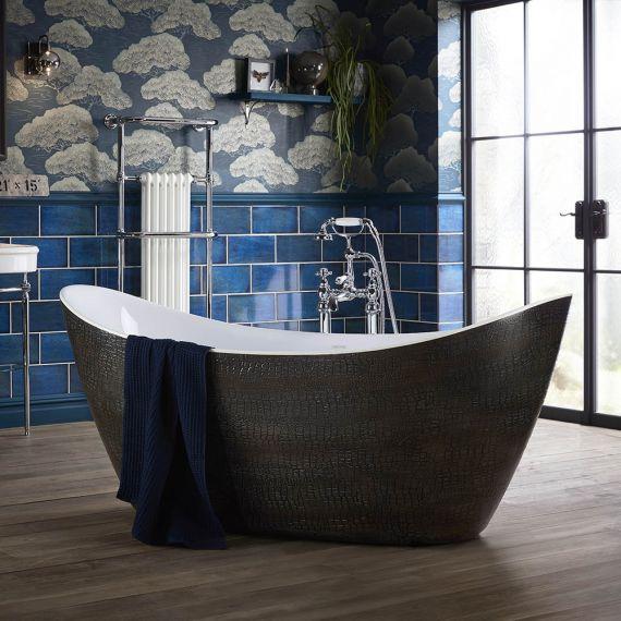 Heritage Alderley Croc Skin Effect Freestanding Acrylic Bath 1730 x 730mm