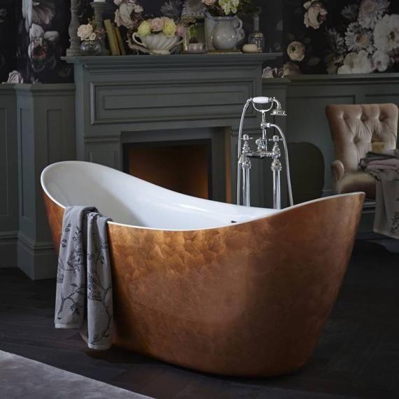 Heritage Hylton 1730 x 730mm Freestanding Copper Effect Acrylic Bath