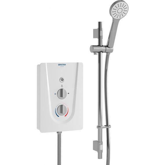 Bristan Smile Electric 9.5kW Shower & Kit White SM985W