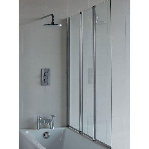 Britton Three Panel Folding Bathscreen