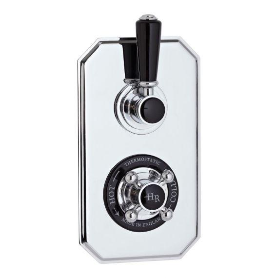 Hudson Reed Black Topaz Twin Concealed Shower Valve With Diverter
