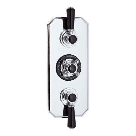 Hudson Reed Black Topaz Triple Concealed Shower Valve With Diverter