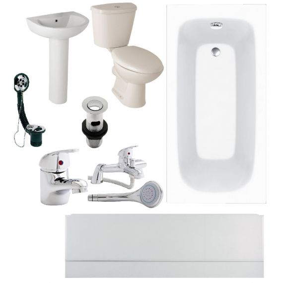 Budget Bathroom Suite 1500mm Bath COMPLETE