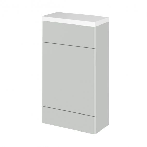Fusion Gloss Grey Mist 500mm Compact WC Unit & Polymarble Top