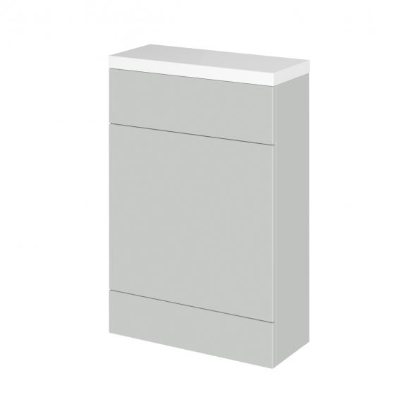 Fusion Gloss Grey Mist 600mm Compact WC Unit & Polymarble Top