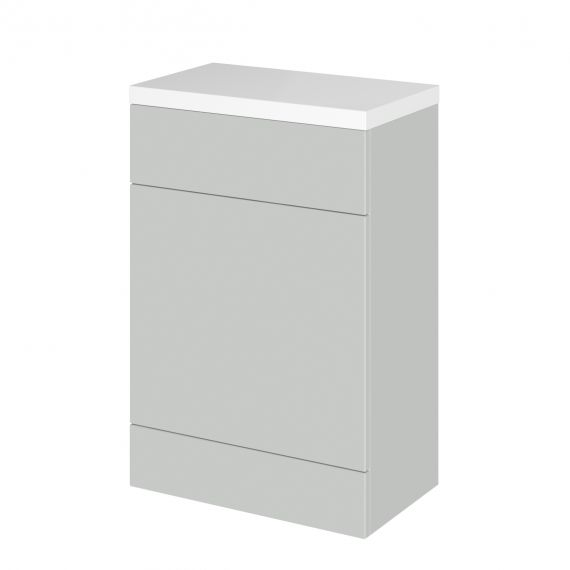 Fusion Gloss Grey Mist 600mm WC Unit & Polymarble Top