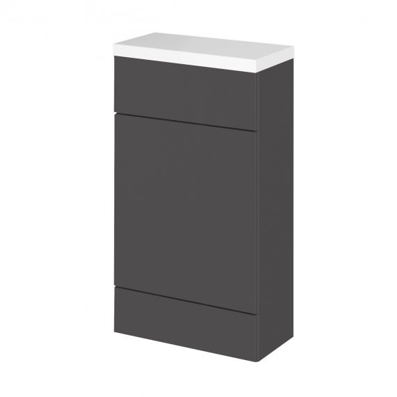 Fusion Gloss Grey WC Unit & Top - Compact