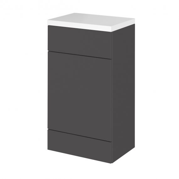 Fusion Gloss Grey WC Unit & Top