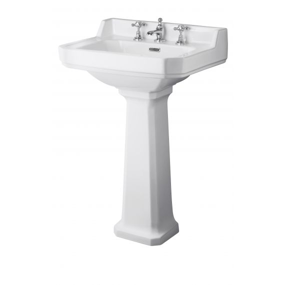 Hudson Reed Richmond 600mm 3TH Basin & Comfort Height Ped