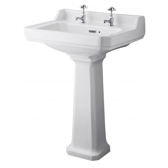 Hudson Reed Richmond 600mm 2TH Basin & Comfort Height Ped