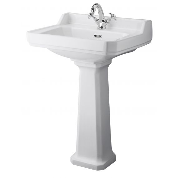 Hudson Reed Richmond 600mm 1TH Basin & Comfort Height Ped