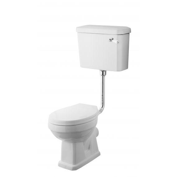 Nuie Carlton Low Level Pan, Cistern & Flush Pipe Kit