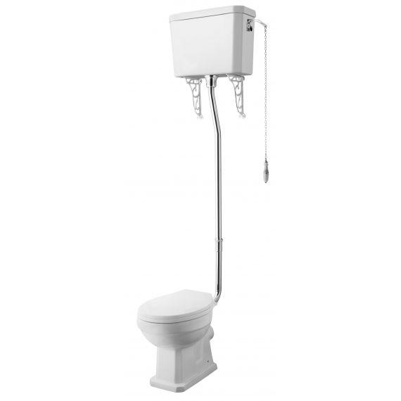 Nuie Carlton High Level Pan, Cistern & Flush Pipe Kit