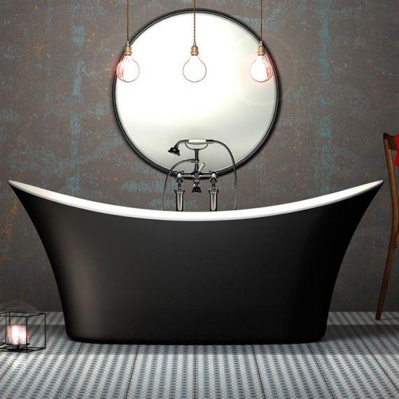 Hazlemere Black Freestanding Bath 1700