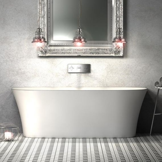 Carme 1700mm Back to Wall Bath CE11049 By Charlotte Edwards