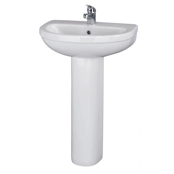 550mm 1TH Basin & Pedestal