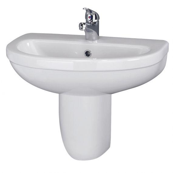550mm Basin 1TH & Semi Pedestal