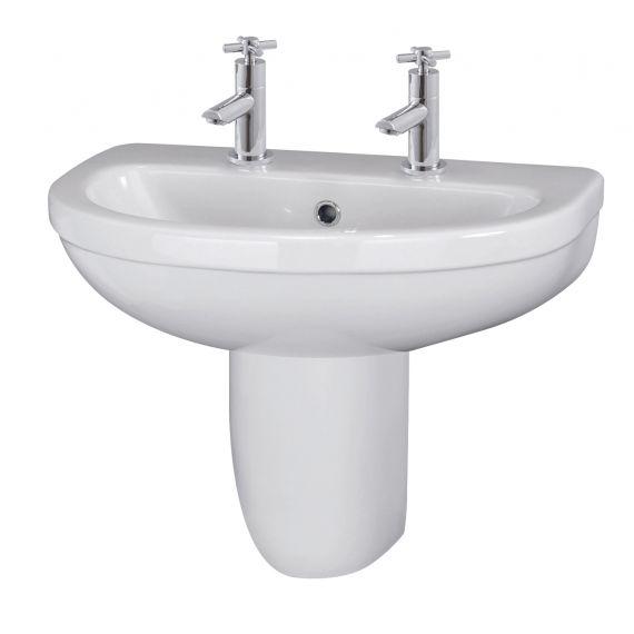 550mm Basin 2TH & Semi Pedestal