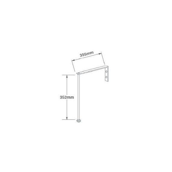 Cleaners Sink Legs And Brackets By Shaws Of Darwen 12 inch