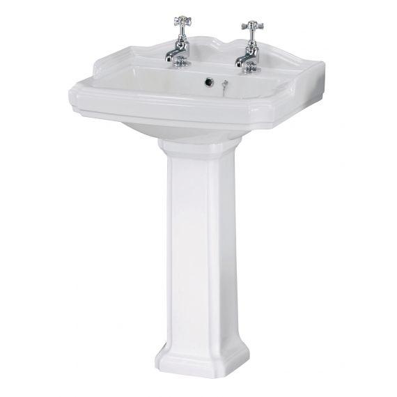 Legend 580mm 2 TH Basin & Pedestal