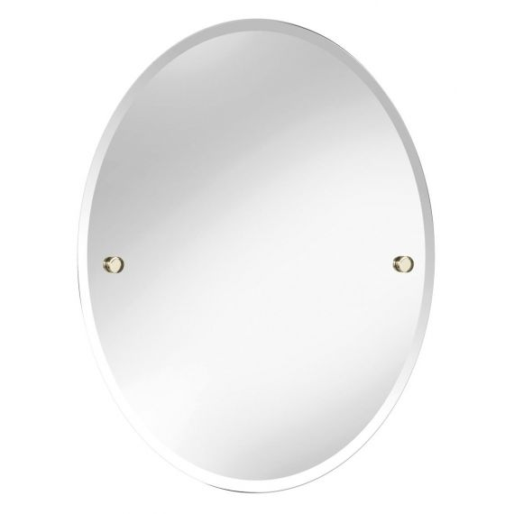 Bristan Oval 610 x 500mm Mirror COMP MROV Gold