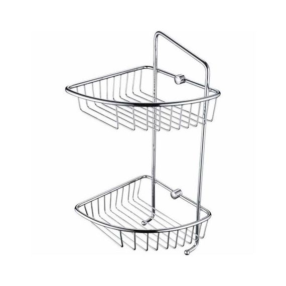 Bristan Two Tier Wall Fixed Wire Basket COMPBASK07 C