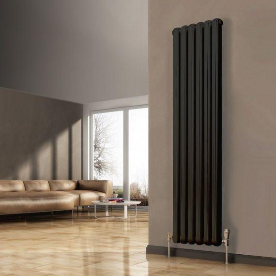 Reina Coneva Designer Anthracite Vertical Radiator 1500 x 440mm