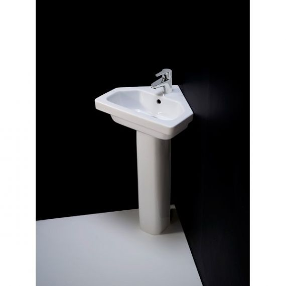 RAK Resort Corner Basin 1 Tap Hole 450mm RST45CNRB1