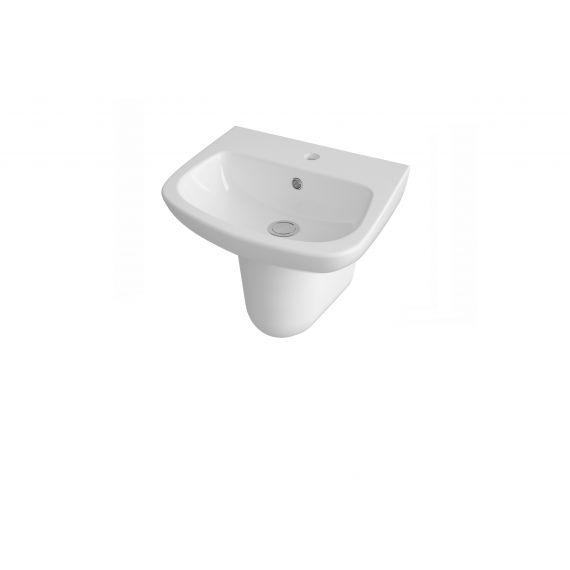 450mm Basin & Semi Pedestal