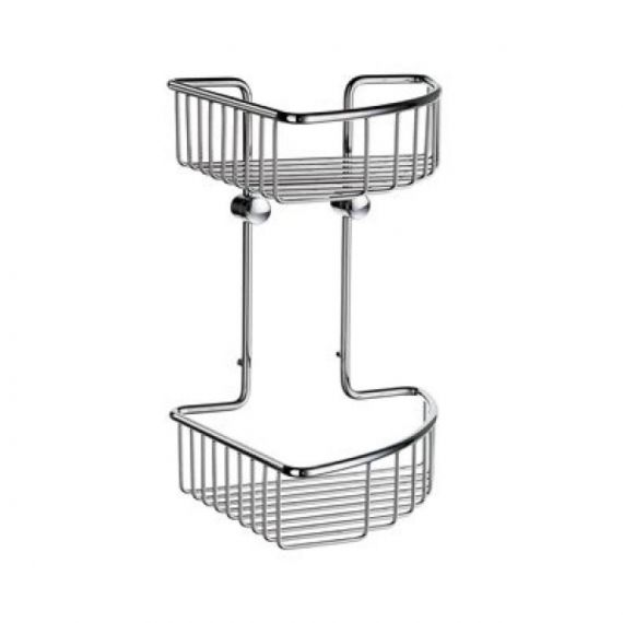 Smedbo Sideline Basic corner soap basket double