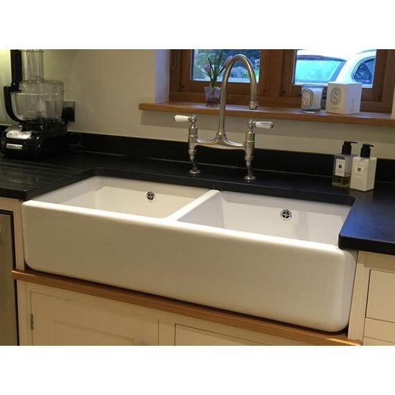 Shaws of Darwen Double 800 Belfast Kitchen Sink (unbranded) SCLD800WHNOSTAMP