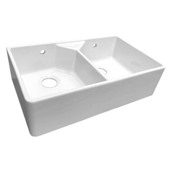 Reginox Dublin Double Bowl Belfast Kitchen Ceramic Sink