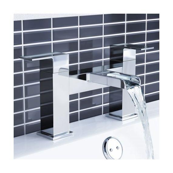 Waterfall Basin & Bath Mixer Tap Set