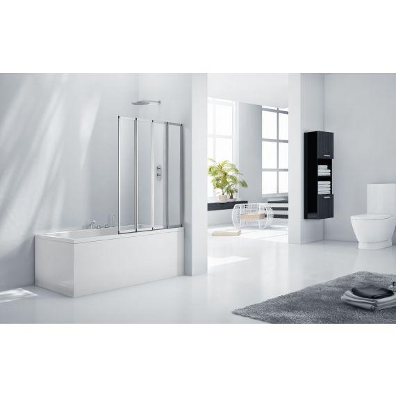 Frontline Aquaglass+ 3mm 4 Fold Bath Screen