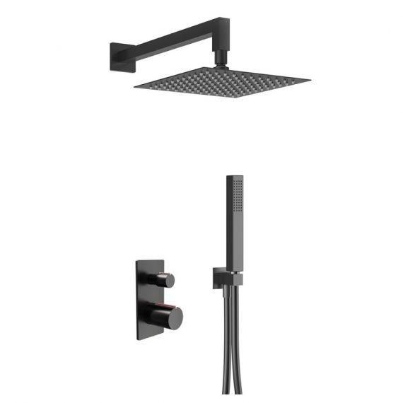 Cu Noir Black and Copper Complete Shower Pack
