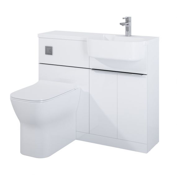 Frontline Linea Furniture Pack Including WC Unit Right Hand - White