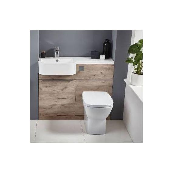 Frontline Linea Furniture Pack Including WC Unit Left Hand - Oak