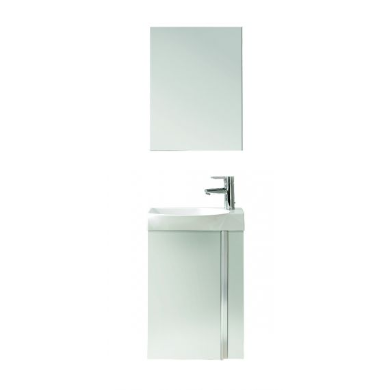 Frontline Elegance Wall Hung Vanity Unit And Mirror - Gloss White