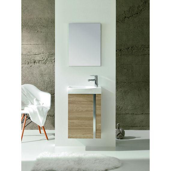 Elegance Wall Hung Vanity Unit And Mirror - Walnut F04877
