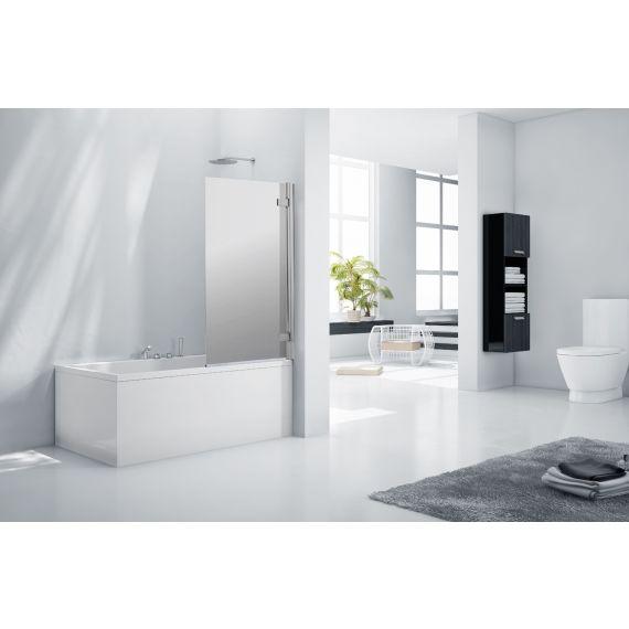 Frontline Aquaglass+ 8mm Frameless Mirrored Bath Screen