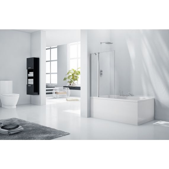 Frontline Aquaglass+ 6mm Square Bath Screen with Fixed Panel